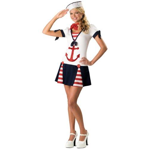 Teen Sassy Sailor Costume (Medium) (Size 7)