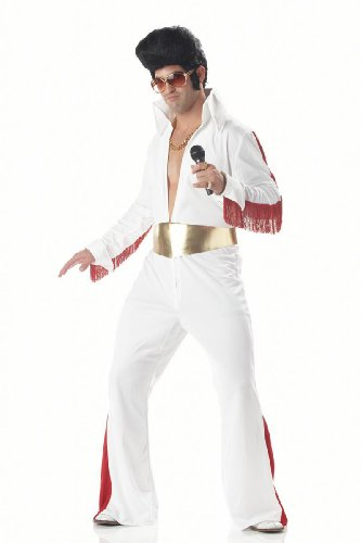 1950s Jeweled White Rock Star Adult Costume