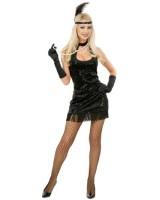 20s-Flapper-Black-Costume-Medium-Dress-Size-8-10-0-1