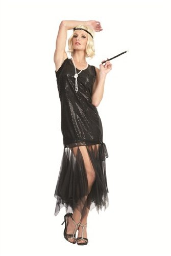 20s Scarf Flapper – Black, Standard Costume