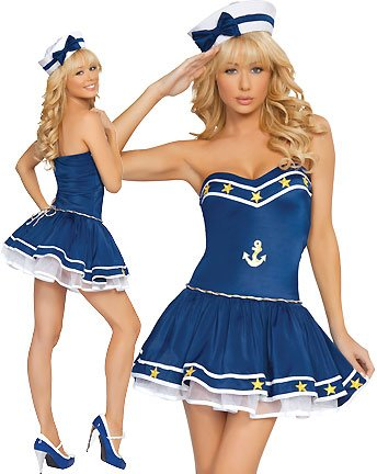 2Pc. Blue Sailor Costume