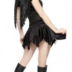 2Pc-Gothic-Angel-Includes-Dress-With-Bows-And-Lace-Up-Waist-CincherRegular-Price-2950AS-SHOWNML-0-0