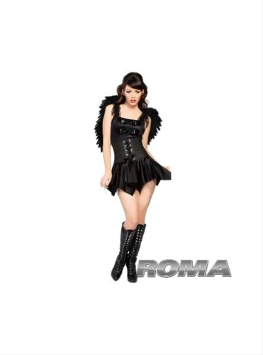 2Pc Gothic Angel Includes Dress With Bows And Lace-Up Waist Cincher….Regular Price $29.50(AS SHOWN,M/L)