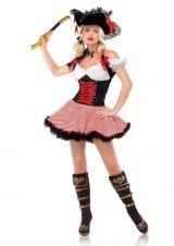 3-PC-Ladies-Pirate-Wench-Dress-X-Large-WhiteRedBlack-0