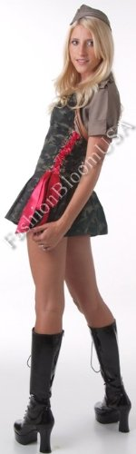 3Pc-Army-Cadet-Include-Hat-Shrug-And-Lace-Up-Side-Dress-GreenRedLarge-0-1