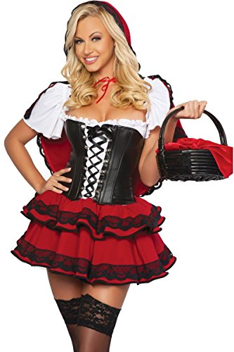 3WISHES 'Wolf Bait Costume' Sexy Red Riding Hood Costumes for Women