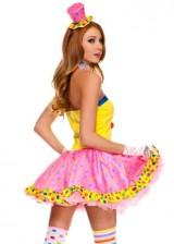 4-PC-Ladies-Circus-Cutie-Clown-Dress-Costume-SmallMedium-Multicolors-0-0