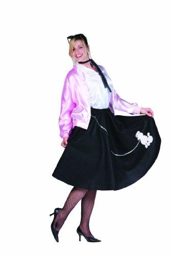 50's Pink Lady Costume, Black, Adult Plus (16-20)