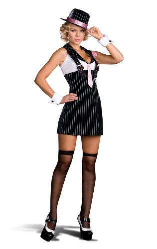 6520 Dreamgirl Costume, Dirty, Sexy Money Gangster Small