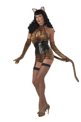 Adult Bettie Page Cattail Halloween Costume Small 6-8