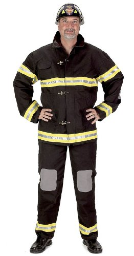 Adult Black Firefighter Suit with Helmet