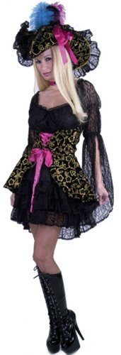 Adult Black Pirate Lady Costume (Size:X-LG 14-16)
