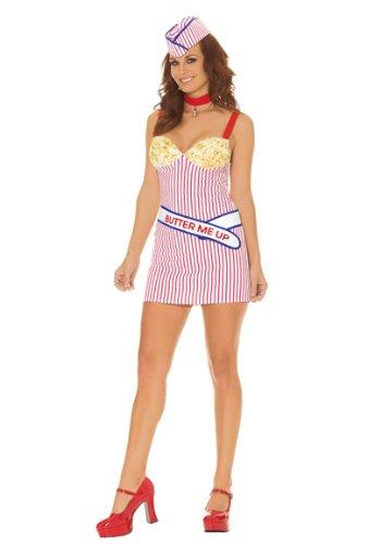 Adult Buttery Babe Popcorn Costume – Medium