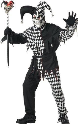 Adult Evil Jester Costume Size 44-46