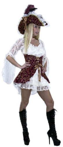 Adult Lacey Pirate Lady Costume (Size:Large 11-13)