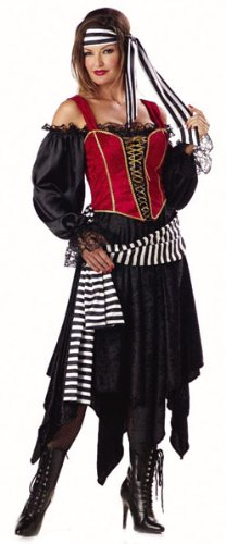 Adult Pirate Wench Costume (Size:Large 12-14)