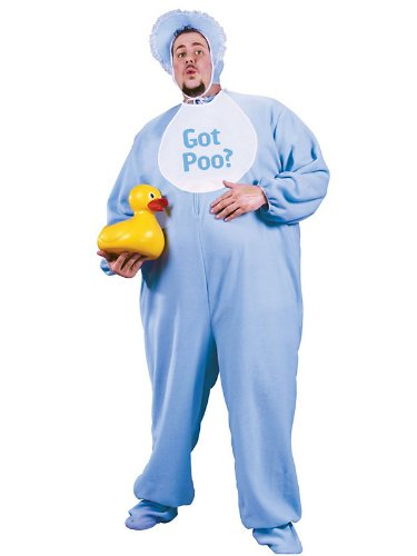 Adult-Plus-Size-PJ-Jammies-Costume-Blue-0
