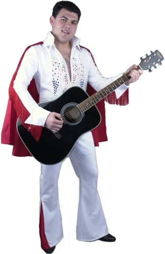 Adult Rhinestone Rock Star Costume Color: White (Size: Small 36-38)