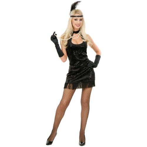 Adult Sexy Black 20s Flapper Costume