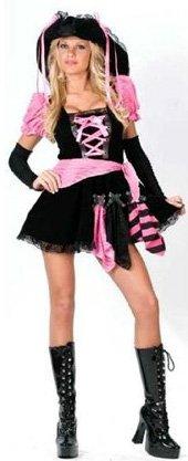 Adult Sexy Pink Punk Pirate Costume
