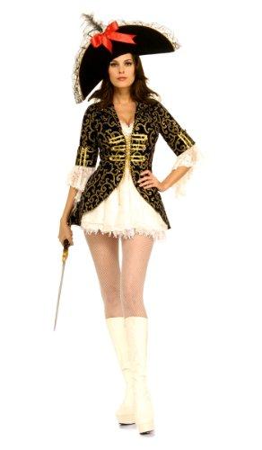Adult Sexy Pirate Queen Costume, Ladies Medium (Dress Sizes 10-12)