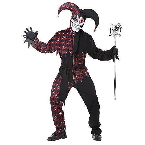 Adult Sinister Jester Costume Medium