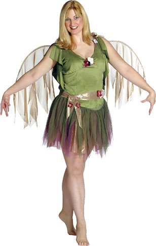 Adult Women's Plus Size Green Fairy Costume (12)