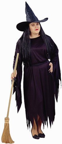 Adult Women's Plus Size Witch Halloween Costume (14-20)
