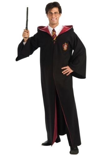 Adults Mens Deluxe Gryffindor Robe Wizard Harry Potter Fancy Halloween Costume