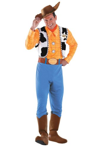 Adults Mens Halloween Deluxe Disney Toy Story Woody Theme Party Fancy Costume – Standard (42-46)