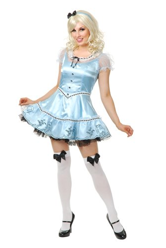 Alice Womens Sexy Sky Blue Small Size 5-7 Costume