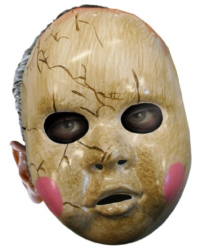 Baby Doll Adult Mask, One Size, White