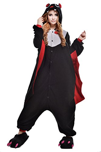 Bat Kigurumi Pajamas Cosplay Costume Unisex Animal Hoodies Sleepwear Small