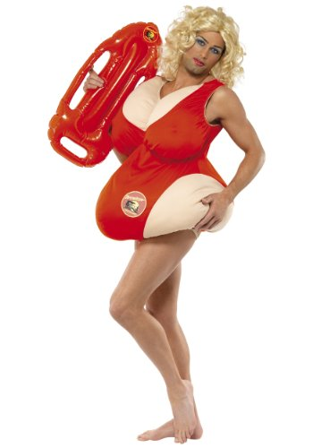 Baywatch Swimsuit Funny Adult Costume (Standard)