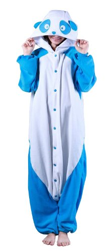 Bcozy Women's Panda Adult Sized Costumes, Blue/White, Standard