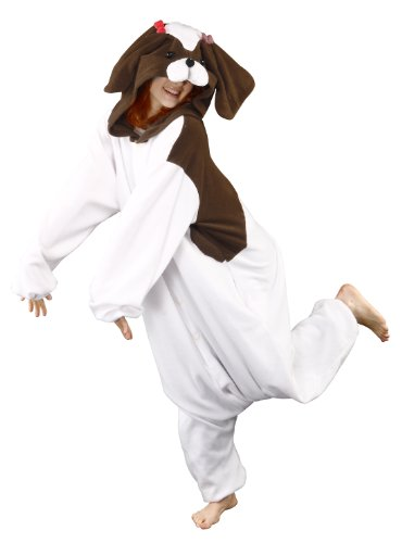 Bcozy Women's Shih Tzu Aka Toy Dog Adult Sized Costumes, Brown/White, Standard