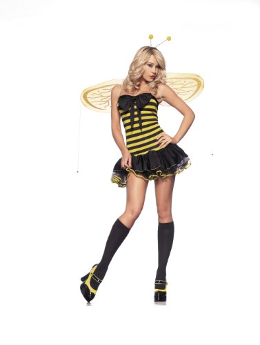 Be Wicked Costumes Women's Lil Bumble E Costume, Yellow/Black, Medium/Large