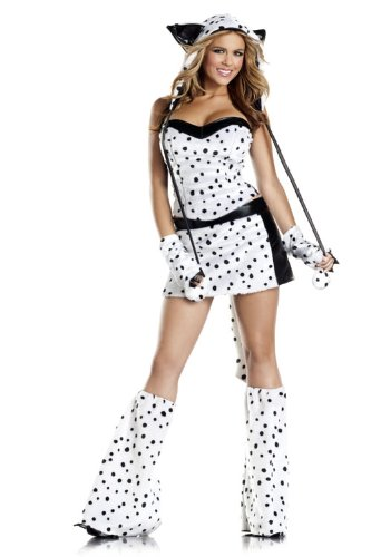 Be Wicked Darling Dalmatian Costume, Black/White, Small/Medium