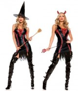 Be-Wicked-Devilicious-Witch-Costume-RedBlack-MediumLarge-0