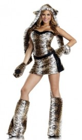 Be-Wicked-Temptuous-Tiger-Costume-BrownBlackWhite-SmallMedium-0-0