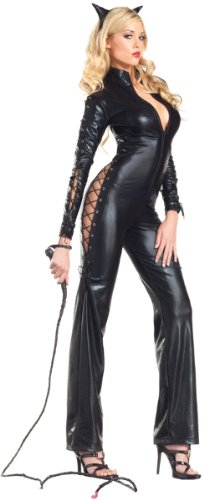 Be Wicked Two-Faced Catwoman Costume, Black, Small/Medium