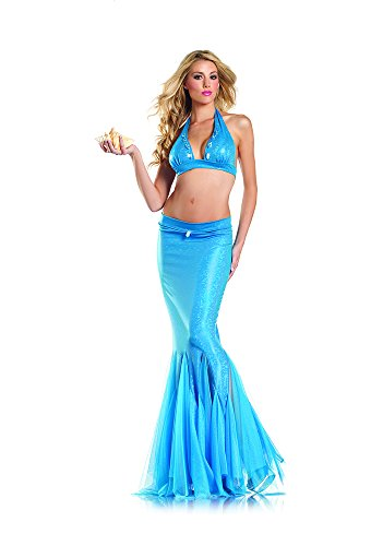 Be Wicked Women's 2 Piece Mermaid, Blue, Medium/Large
