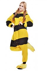 Bee-Kigurumi-Pajamas-Cosplay-Costume-Unisex-Animal-Hoodies-Sleepwear-Small-0