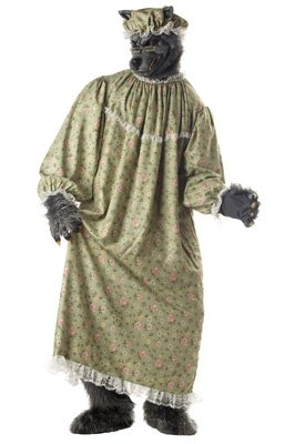 Big Bad Wolf Granny Costume – One Size – Chest Size 40-44