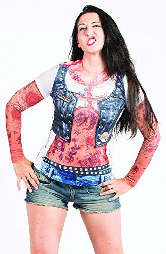 Biker Babe Jean & Tattoo Costume Shirt