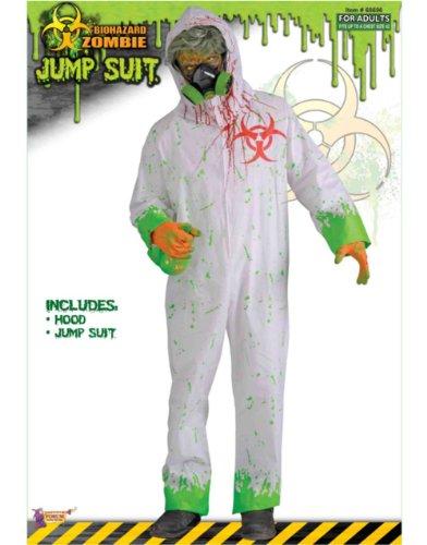 Biohazard Zombie White Jumpsuit Adult Costume