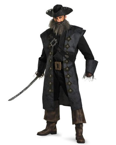 Black Beard Deluxe Costume – XX-Large – Chest Size 50-52