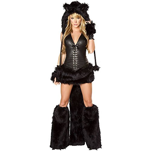 Black Cat Corset and Skirt Costume