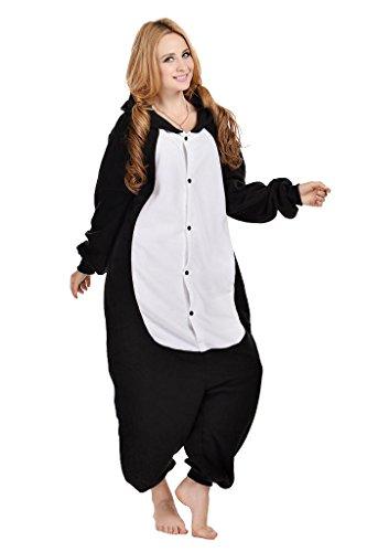Black Cat Kigurumi Pajamas Cosplay Costume Unisex Animal Hoodies Sleepwear Large