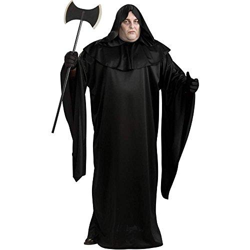 Black Hooded Robe Plus Size Costume
